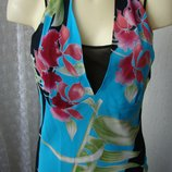 Платье женское летнее легкое модное яркое сарафан миди бренд Landri Italy р.42 5728