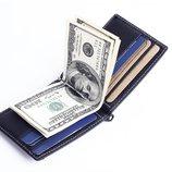 Зажим для купюр портмоне кошелек мужской 100% кожа