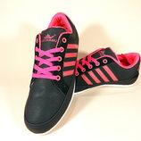 Лёгкие, черные, комфортные кроссовки для бега и тренировок. Размеры 36-41.