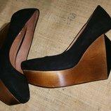 40р-25.5 замша эксклюзивные туфли Zing