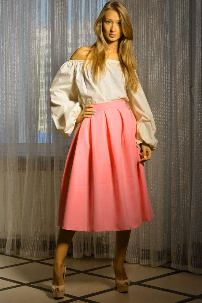 Длинная юбка в складку солнцем