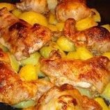 Курица с картофелем фри с лаймовом соусе 1 противень