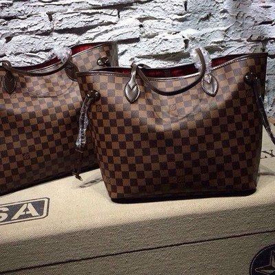 7d7ba39241b8 Сумка Louis Vuitton Neverfull, коричневая, Канва сумка 100% копия ...