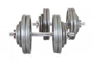 Гантели 2x30 кг чугунные Hs-Strong