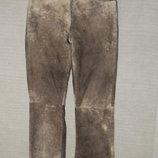 Очень неординарные винтажные кожаные джинсы Jack & Jones. Дания. S.