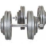 Гантели 2x20 кг чугунные Hs-Strong
