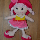 Кукла мягкая 41 см , очень яркая и красивая
