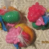 Пасочки, фрукты, 6 штук Игрушки для песка