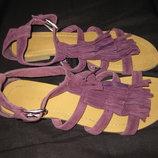 замшевые босоножки сандали, 39 р-р, с травкой