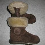 кожаные сапоги Clarks, 14 см стелька, демисезонные