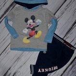 92 см Очень классная фирменная кофточка кофта реглан Disney Дисней Микки Маус