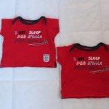 футболка футболки можно близнецам mothercare 3-6, 6-9 мес