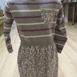 платье с длинным рукавом M&S 5-6 лет