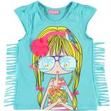 фирменная футболка для маленьких модниц