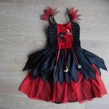 карнавальный костюм 2-4 г красный черный кошка новый Marks&Spencer Маркс и Спенсер