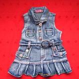 Детское джинсовое платье сарафан