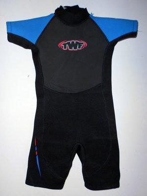 Гидрокостюм детский черно-голубой TWF
