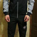 Спортивный костюм Clima365 без капюшона серо-черный трикотаж. Весна- лето