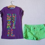 Джинсовые шорты для девочки 9-10 лет