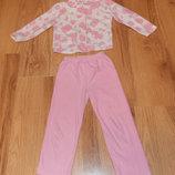 Флисовая пижама Priмаrk для девочки 5-6 лет, 110-116см