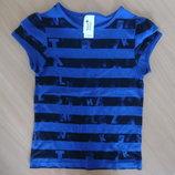 майка футболка детская 122-128 см девочке новая синяя черная C&A Кунда