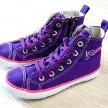 0084. Новые высокие кроссовки на шнурках для девочки. Pepperts. Размер 31. Стелька 20 см. Легкие.