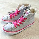0083. Новые высокие кроссовки на шнурках для девочки. Pepperts. Размер 33 11 . Стелька 21.5 см.