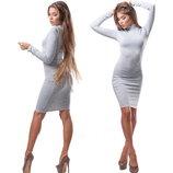 Платье-Миди Классика с горлом 4 цвета есть баталы