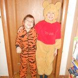Костюм карнавальный Винни Пух Тигр Панда Пес на возраст 5-6 лет