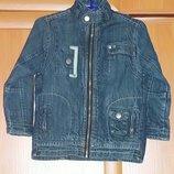 Катоновый пиджак с тканевой подкладкой на 3-4 года