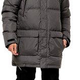 удлинненый пуховик Icepeak ,финского бренда ,70%пуха 30% перо ,надежно защищает от ветра , сн