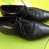 Мужские туфли - Оксфорды Zara Man кожа кожаные Оригинал 40-41 р