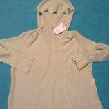 Рубашка с капюшоном вискоза салатовая Пог- 57 см