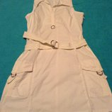 Платье белое хлопок Пог- 44- 50 см