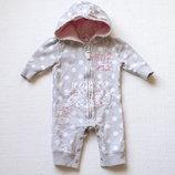 Человечек утепл. для новорожденной девочки