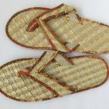 Тапочки, вьетнамки плетённые