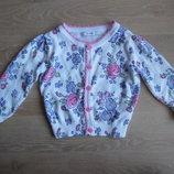 свитер кофта джемпер 3-4 лет как новый цветочный принт George Джорж