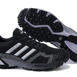 Кроссовки Adidas Maraphon Flyknit - черно-белые