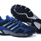Кроссовки Adidas Maraphon Flyknit - синие белый