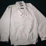 Рубашка белая на манжете р.104-134
