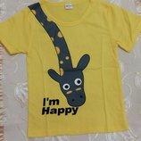Детская футболка , Domi, 2 цвета, размер 94-105, новая