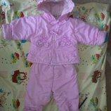 Демисезонный костюм комбинезон на девочку 1-3 года