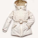 Куртка демисезонная для девочки в горошек 03-00642-0