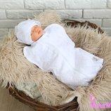Пеленка-Кокон для новорожденного на молнии Праздничная от 0 до 3 мес