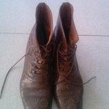 Продам кожаные итальянские ботинки дешево