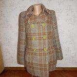 пальто шерстяное стильное модное р12