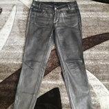Guess джинсы напыление серебро