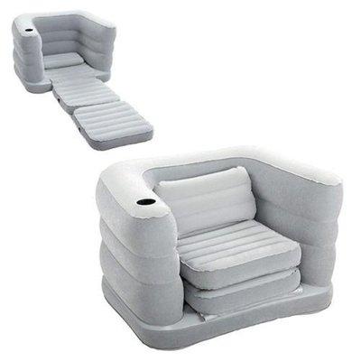 Велюровое кресло с подстаканником, расскладное. 75065. 200 102 64 см.