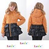 Пальто куртка тм Luxik Люксик модель Софи на девочку р. 110-128
