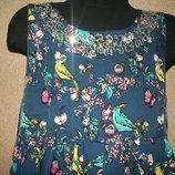 Красивое платье с птичками George 10-11л